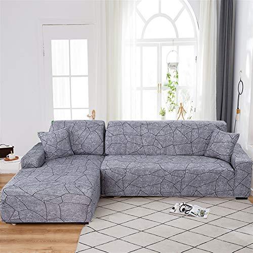 Dauerhafter und leicht zu reinigender Sofa-Cover Sofa-Abdeckung, Ecksofaabdeckungen für Wohnzimmer L Sofa-Cover Stretch Slipcover Couch Cover Separated Design (L-Form muss 2 Stück kaufen)