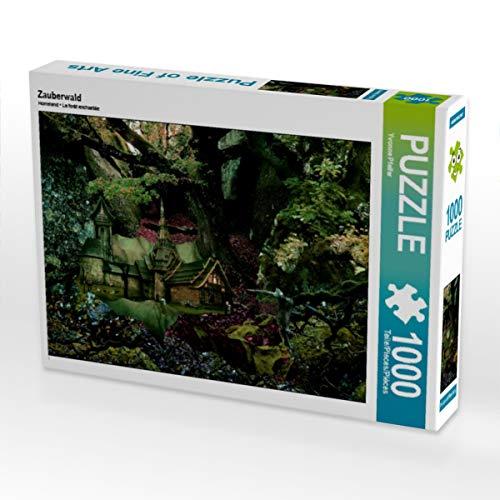 CALVENDO Puzzle Zauberwald 1000 Teile Lege-Größe 64 x 48 cm Foto-Puzzle Bild von Yvonne Pfeifer