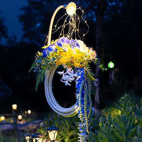 ZHIRCEKE LED Garten Dusche Licht Dekorationen, Wasserpfeife Krone Solar Garten Kunst Sprinkler, Garten Dekoration Beleuchtung, Laterne, Sternenhimmel Licht