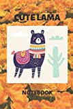 cute lama notebook: Lined Notebook / Journal Gift, 100 Pages, 6x9, Soft Cover, Matte Finish