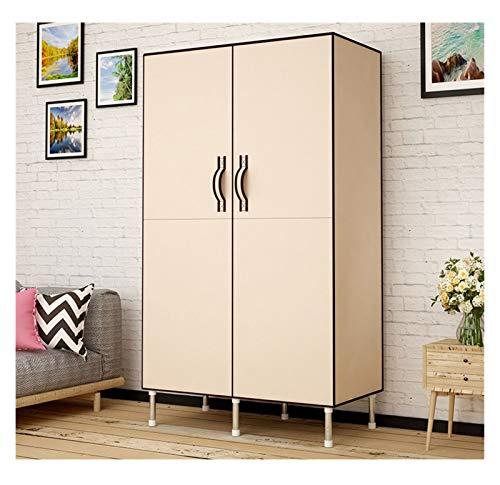 SCYMYBH Cloth Wardrobe Portable Closet Organizer Double Door Type Folding Single Storage Multifunctional Assembled Wardrobe (Color : D, Size : 86×45×170CM)