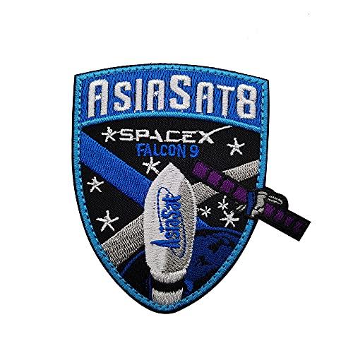 SPACEX Falcon 9 parches Space Mission Elon Musk ASIASAT 8 Logo bordado...