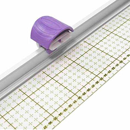 Regla con cortador rotativo. Cutter rotativo con regla incorporada para cortar varias telas de una vez