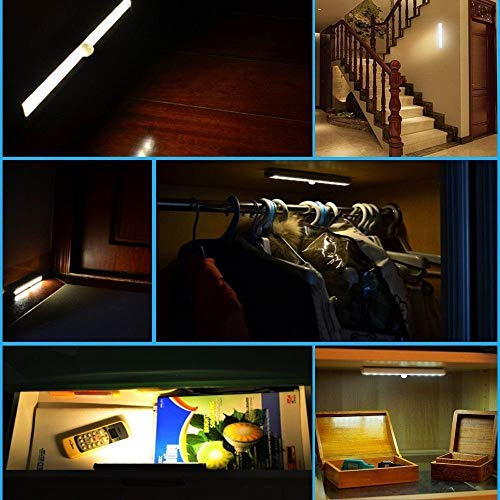 K.T. Fancy 4 Pack Motion Night Light Battery Powered Activated Motion Sensor Light for Cabinets, Closets, Garages, Stairs, Hallway, Bathroom