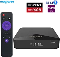 Magicsee N5 TV Box Amlogic S905X Android 7.1 DDR3 2GB RAM 16GB ROM 2.4G&5G WiFi Support BT 4.1 4K H.265 Set Top Box