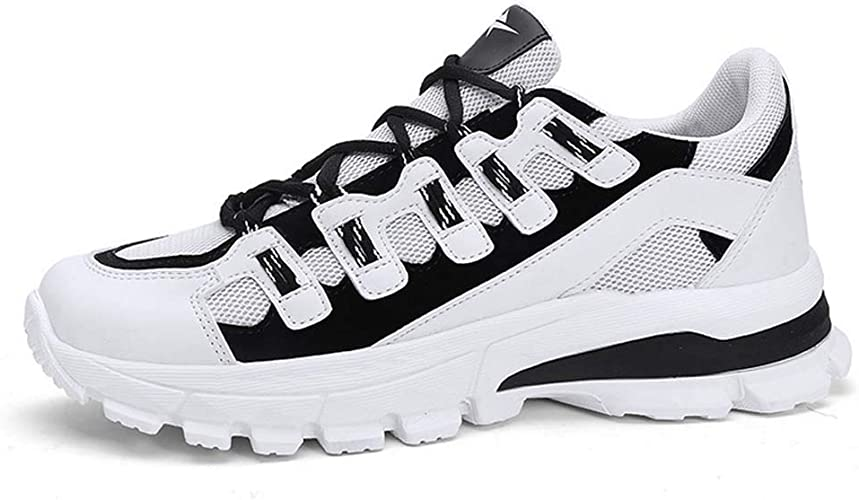 Baskets Hommes Chaussures de Sport, Chaussures de Course, Chaussures de Course, Chaussures de Course, Chaussures de Montagne, Fitness,blanc,44EU