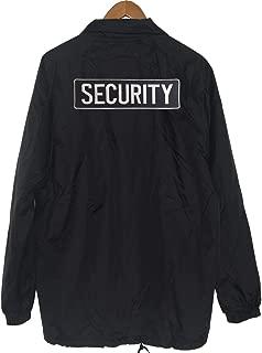 Men's Security Embroidery Windbreaker Waterproof Coach Jacket
