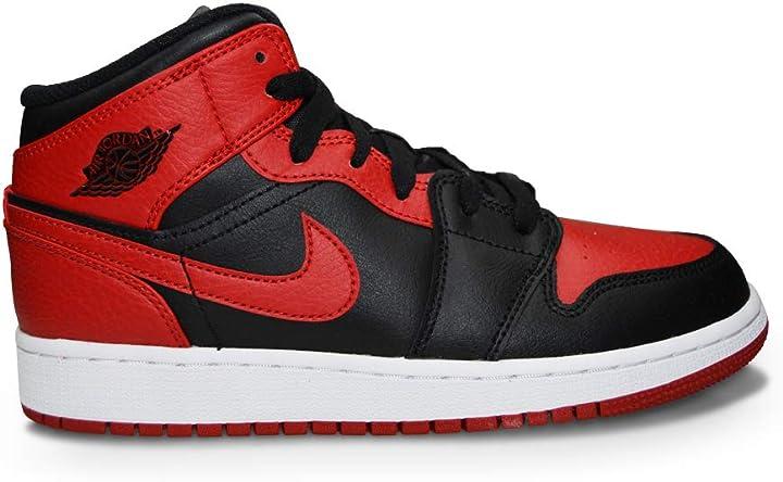 Nike air jordan 1 mid (gs), scarpe da basket bambino 554725-063