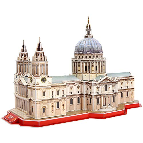 CubicFun 3D Puzzles St. Paul's Cathedral London Architectures Model Building Kits Souvenir Gift for Adults and Kids, 107 Pieces