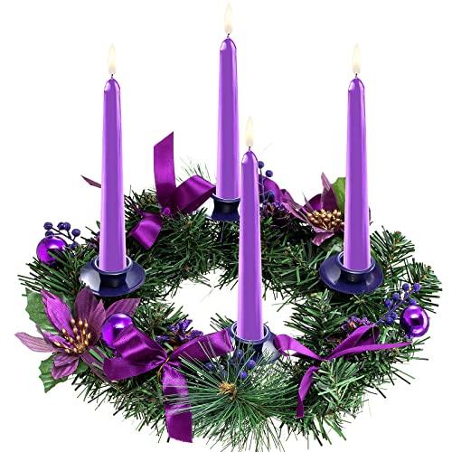 MAISITOO Natale Avvento Corona Pino Ghirlanda Ghirlanda Candeliere Vacanza Candeliere Titolare,Portacandele Ghirlanda di Natale,Ghirlanda dell'Avvento di Natale,ghirlanda da tavolo(oro)