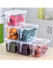 Koelkast Opbergdoos Voedsel Container Organizer Handige Opbergdoos Keuken Transparante Pp Opbergdoos 6 Stuks