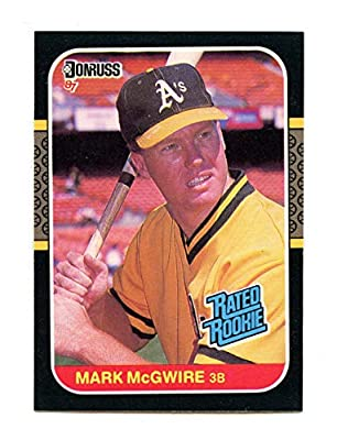 1987 Donruss Rated Rookie #46 MARK MCGWIRE Oakland A's Rookie