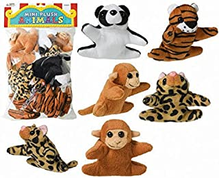 Amscan 398916 Mini Plush Animals Prize Pack Supplies, Multicolor, One Size, 12ct Party Favors