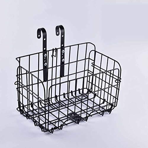 SHIYN Wire Mesh Fold-Up Abheben Vorne Hinten Bike Fahrradkorb Quick Release, Fahrrad-Metallkörbe, Fahrradkörbe Vorne, Mountainbikes, Fahrradrahmen Hinten, Einkaufskörbe