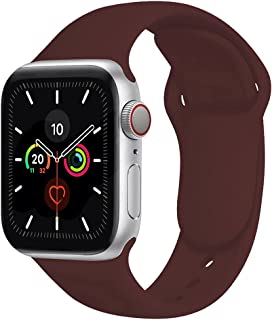 Compatible with Apple Watch Band 42mm 44mm,Soft Silicone Fitness Replacement Accessories Straps Wristbands for iWatch Band...