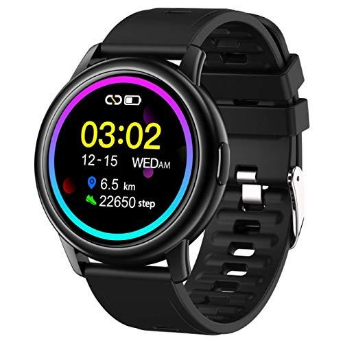 ZHEBEI Reloj Inteligente Hombre LF28 IP68 Impermeable 30 Días de Espera Monitor de Frecuencia Cardíaca Deportes Negro