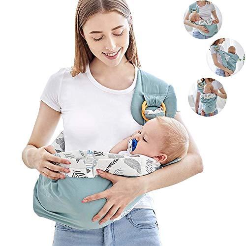 ZYEZI Ring Sling Baby Carrier, 100% algodón, transpirable, elástico, con bolsillo, talla única, para todas las fundas de enfermería unisex