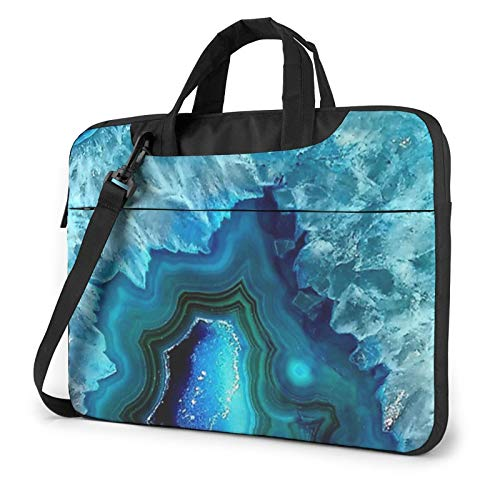 Bright Aqua Blue Turquoise Unisex Laptop Shoulder Bag Messenger Case for Computer Briefcase Carrying Sleeve