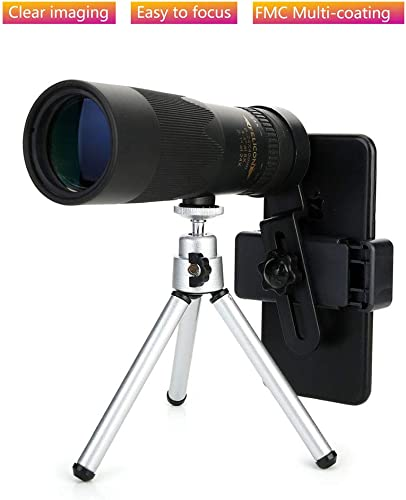 CHUSHENG Mini monoculaire 24X40, Longueur réglable pour la Mise au Point Facile, pour l'observation des Oiseaux en Plein air ou des visites touristiques, Noir