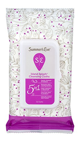 Summer's Eve Cleansing Cloths | Island Splash | 32 Count | Pack of 12 | pH-Balanced, Dermatologist & Gynecologist Tested