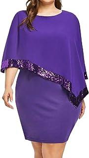 Wadonerful Women Sequins Dress Cold Shoulder Strapless Plus Size Mini Club Dress Chiffon O Neck Party Evening Wrap Dress