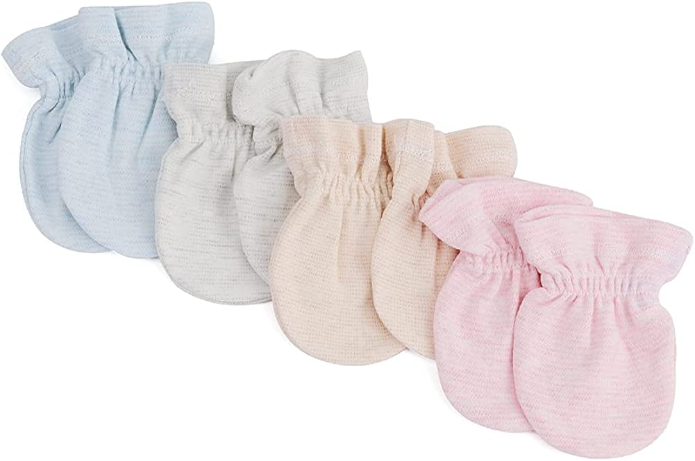 4 Pack No Scratch Mittens For Boys Newborn Girls Minneapolis Mall Baby Gloves mit New Shipping Free Shipping