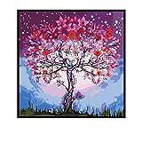 Moderno arte de la pared árbol lienzo pintura decoración del hogar lienzo pintura carteles e impresiones60X60cm Sin marco