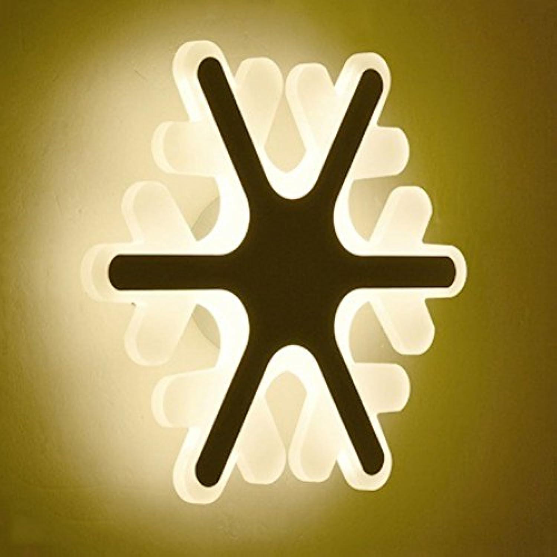 Wandleuchte, Moderne Wandleuchte 12 Watt LED Acryl Wandleuchte Weie Wandleuchte Lichter Für Wohnzimmer Schlafzimmer Korridor Treppen Badezimmer Schneeflocke Lampe (warmes Licht)