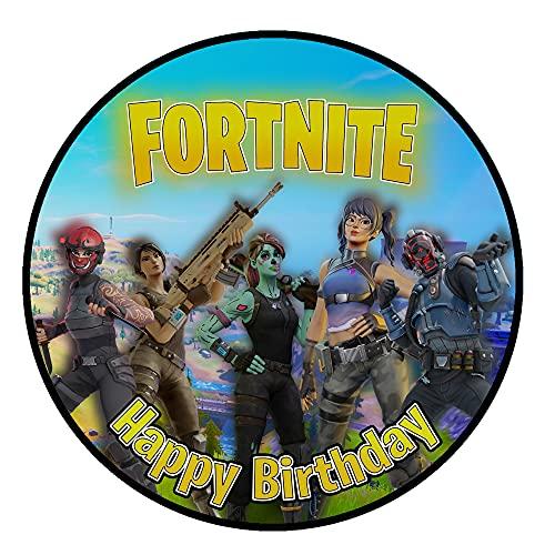 Tortenaufleger Geburtstag for_tnite Gamer Spiele Fan Motiv Essbare Tortendeko Tortenbild Kuchendekoration Fondant Rund Ø20CM
