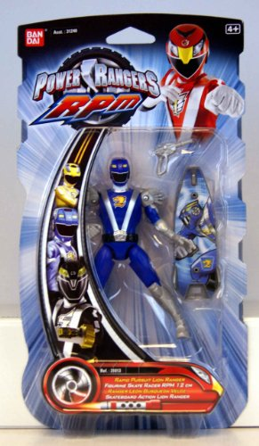 Power Rangers - 31014 - RPM - Skateboard Action - wolf Ranger schwarz - ca. 12 cm - mit Skateboard und Phaser (schwarz)