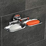 MATERIAL : It's made from 304 AISI grade Stainless Steel Material. DURABILITY : It belongs to Anti Rrust and Corrosion Resistance Quality. FINISH : It has natual Full Chrome Finish. INSTALLATION : It is wall mounted soap dish. Screw and grips are pro...