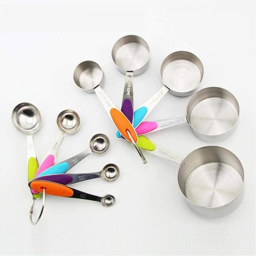 10Pcs Stainless Steel Measuring Cups Spoons Large discharge sale And Durable Kitchen Daily bargain sale