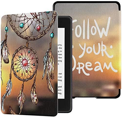 리는 케이스 킨 들의하는 PAPERWHITE10 세대 2018 년 출시 전자 책 독자를 커버 우수한 PU 가죽 방수 SLIMSHELL 자동어 | 잠을-당신의 꿈을 따르십시오