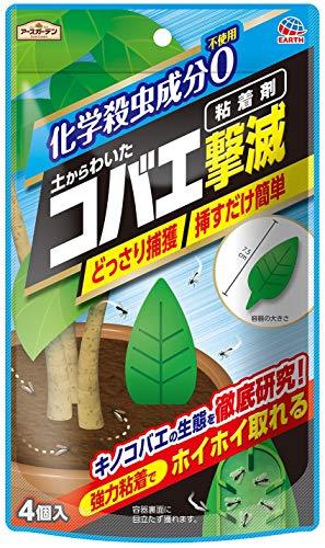 アースガーデン 粘着剤 土からわいたコバエ撃滅 粘着剤 4個入り