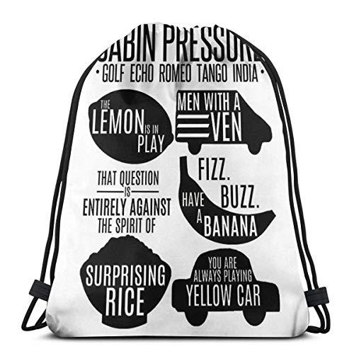 AOOEDM Drawstring Bags Cabin Pressure Moments Zaino sportivo pieghevole pieghevole Zaino da palestra Zaino con coulisse