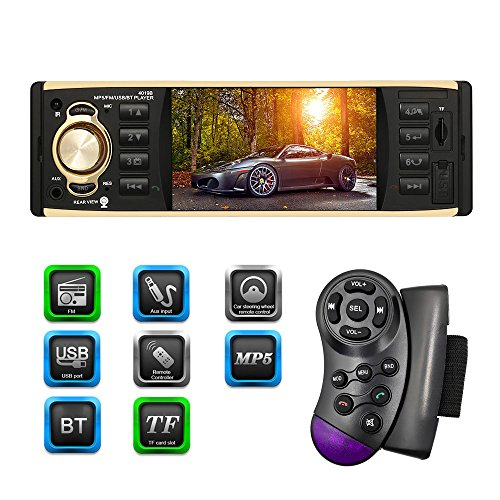 KKmoon 4,1 Zoll Car Radio MP5 Player Universal-TFT-HD-Digital-Bildschirm Autoradio MP5 Spieler Multimedia Unterhaltung BT USB/TF FM Aux Eingang Lenkrad Fernbedienung