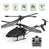 ROTOBAND RC Helicopter, Remote Control Helicopter with Gyro 3.5Hz Channel Mini Alloy Remote Helicopter Toys Gifts for Kids and Adults (Black)