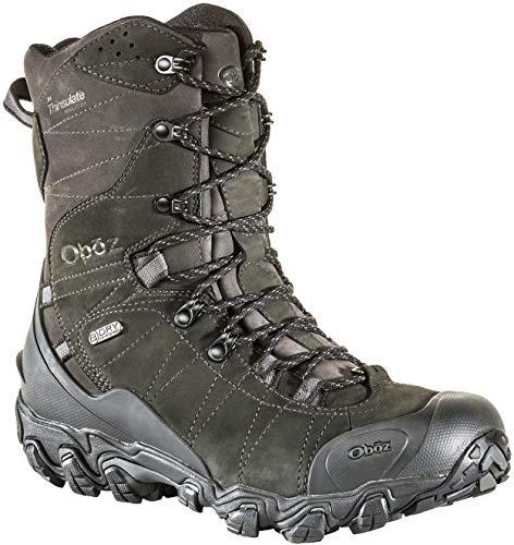 "Oboz Bridger 10"" Insulated B-Dry Hiking Boots - Men's Carbon Black 13"