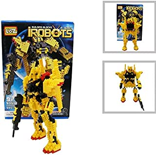 Loz Diamond Building Block Series Yellow Gundam Style Robot Warrior