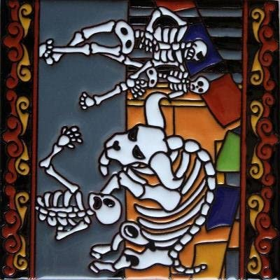 Fine Crafts & Imports 6x6 Running of The Bulls. Day-of-The-
