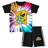 Aiyuheping Mikecr-ack - Conjunto de ropa de manga corta para niños, 2 piezas, ropa deportiva para niñas y niños, conjunto de pijama de primavera y verano para niños