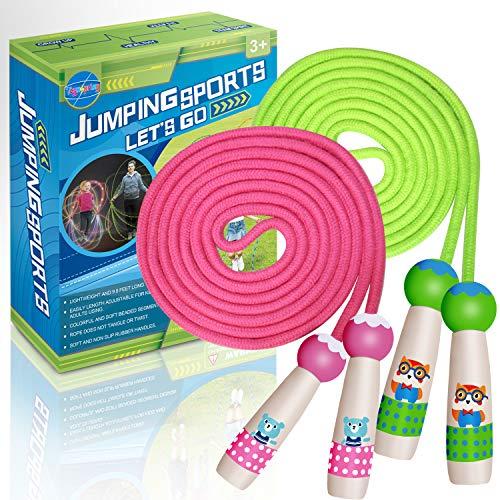 Jump Rope & Skipping Rope, 2 Pack Jump Ropes for Kids Boys...