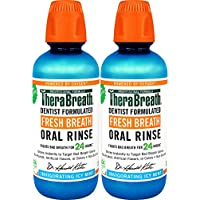 2-Pack TheraBreath Gluten-Free Fresh Breath Oral Rinse, 16 Ounce Bottle
