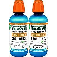 2-Pack TheraBreath 16oz Gluten-Free Fresh Breath Oral Rinse