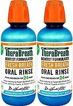 رفع عفونت تنفس TheraBreath، شستشوی دهان و بینی، نعناع Icy، بطری 16 اونس (بسته 2)