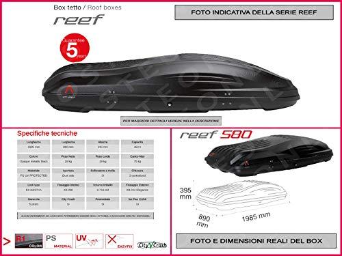 Proposteonline portabagagli Box Tetto Auto 198 x 89 x 39 cm per Nissan Qashqai 2007 > con Barre Portapacchi portatutto uw38jq