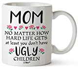 Mothers Day Gifts For Mom From Daughter Son Funny Birthday Coffee Cup Mugs Mother's Day Mug Presents in Law Step Moms Best Funny Unique Sarcastic Present Ideas Stepmom Aunt Wife Friend Tea Cups