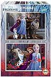 Educa Borrás 2 puzzles infantiles, 100 piezas, Frozen II, a partir de 72 meses, color variado, 2 x 100 (18111) , color/modelo surtido