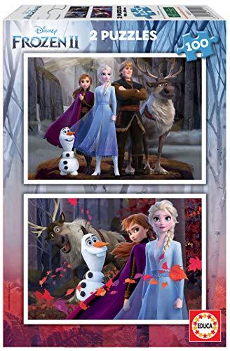 Educa - Frozen II Puzzles, 2 x 100 Piezas, Multicolor (18111)