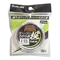 サンライン(SUNLINE) ナイロンライン CASTEST テーパー力糸投 15m #4-12 クリアブルー